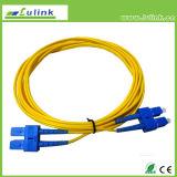 Único cabo ótico da fibra da modalidade Sc/FC/LC, cabo de correção de programa da fibra