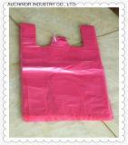 Sacs à provisions recyclables estampés de transporteur de gilet de singulet de T-shirt de HDPE pour des hypermarchés