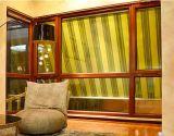 Finestra di alluminio placcata standard australiana di Wodo con i ciechi interni dell'otturatore