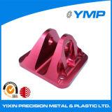 Custom Alumnium anodizado rojo de piezas de mecanizado CNC en China