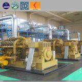 セリウム公認10kw - 5000kwガスの電気の発電所の生物量のガス化装置の発電機