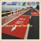 Doppia pavimentazione a cristallo di colore durevole luminoso della strada e di colorazione