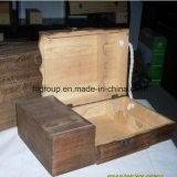 뚜껑에 의하여 주문을 받아서 만들어지는 소나무 나무로 되는 포도주 상자를 미끄러지는 구획 공정한 표준 크기