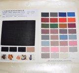 靴のための織り目加工の湿式法PU総合的な革材料