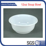 Cuenco de sopa de plástico blanco de 12 onzas