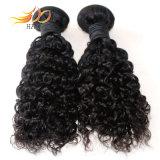 8A加工されていないマレーシアのバージンの人間の毛髪はジェリーのカールの自然なカラーを編む