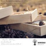 Hongdao natürliche Farbe kundenspezifisches Firmenzeichen-Hochzeits-Geschenk-hölzernes Foto USB-Verpackungs-Kasten _E