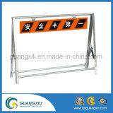 Inscreva-se destaca por placas de barreira na área de Advertência