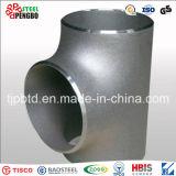 ステンレス鋼の管付属品の食品等級の溶接された等しいティー