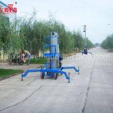 Levage électrique vertical portatif d'homme de levage hydraulique d'alliage d'aluminium