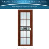 puerta interior de aluminio del marco de 1.0mm~2.0m m con diverso vidrio