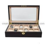 12 de Stevige Houten Horlogekasten van groeven voor de Doos van de Vertoning van de Opslag van Mensen
