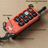 El control F21-6s de la Micromote-Radio para el alzamiento de la palanca, da el alzamiento de cadena y el alzamiento del aire