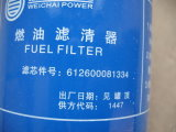 Le chargeur de roue de Sdlg LG936 partie le filtre à essence 612600081334 4110000589001