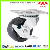 65mm 경질 고무 회전대 격판덮개 피마자 바퀴 (P108-53B065X24)