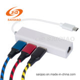 Tipo C Hub USB con cable de red