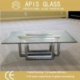 6mm, 8mm, 10mm, 12mm Vidro temperado em forma de empacotado individualmente para mesa de mesa usada