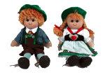 Симпатичные мягкие мультфильм девушка лоскутом ткани кукла кукла фаршированные игрушка
