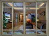 Porte coulissante en aluminium d'interruption thermique de luxe pour la villa