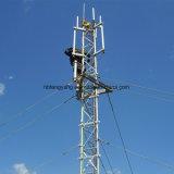 Galvanisierter Stahlstab Guyed Telekommunikations-Aufsatz