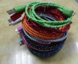 iPhone5를 위한 Nylon 다채로운 Fabric Braided USB Cable