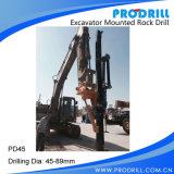 Hydraulisches Excavator Mounted Rock Drilling Rig für Borehole Drilling