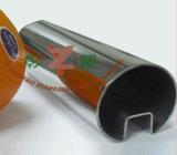 Tubo rotondo della scanalatura dell'acciaio inossidabile singolo