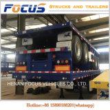 容器輸送のための重く長い手段の平床式トレーラーのトラックのトレーラー