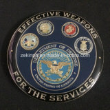 Monete personalizzate di sfida dei militari di alta qualità per il ricordo