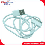 accesorios para teléfonos móviles de color blanco de TPE cable de datos USB para el iPhone 4