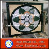 Medallones de piedra del granito del mármol del estilo de la flor del DES (DES-MDL10)