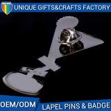 Pin en alliage de zinc d'insigne en métal de logo de forme faite sur commande de trophée