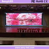 Alquiler de interior LED de la visualización que hace publicidad del panel