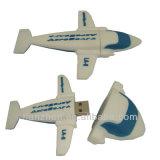 PVC航空機の形USBのフラッシュディスク