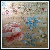 La peinture abstraite d'huile de fleurs de printemps avec brancard ou Photo Frame (LH-015000)