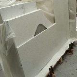 Prateleira de quartzo branco puro puro para cozinha
