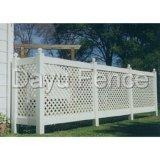 Clôture en treillis de jardin en PVC