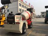 Individu mobile diesel de 3 mètres cubes chargeant le mélangeur concret de camion