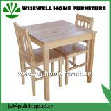 2개의 의자 (W-DF-0621)를 가진 단단한 나무 식당 가구