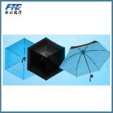 De blauwe Handige Paraplu van het Terras van de Douane Openlucht