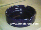 Yg016のPromitional Bueの円形の陶磁器の灰皿