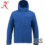 Куртка раковины Mens Windbreaker нестандартной конструкции мягкая (QF-426)