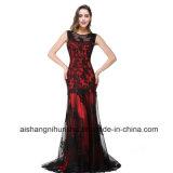 Les femmes Black Lace Mermaid Sleeveless sexy robe de soirée Prom