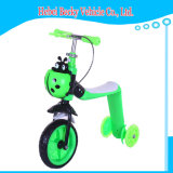 Los niños con ruedas Scooter intermitente regulable en altura Kick Scooter
