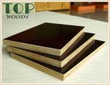 1220*2440 (4*8) 6/9/12/15/18/21mmポプラまたは堅材またはCombiのコア建築材料の黒またはブラウンのフィルムは構築のための合板WBPの接着剤に直面した