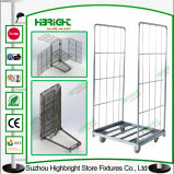 Laundry Cart Warehouse Roll Container Cage Milk Trolley