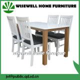 Festes weißes Spitzeneichen-Tisch-Vierecks-hölzerner Tisch