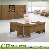 Mesa em forma de L do diretor escritório da anti mobília de madeira do MFC do risco