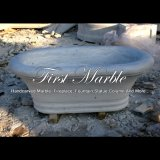 Baño de mármol blanco para decoración del hogar Mbm-1085