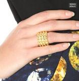 Punk completamente com jóia larga simples da forma do anel do metal da Ouro-Cor